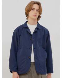 URBANDTYPE Ol179 Loose Fit Blazer Navy - Blue