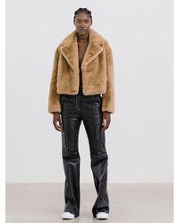 Stand Studio Janet Jacket Faux Fur Soft - Multicolour