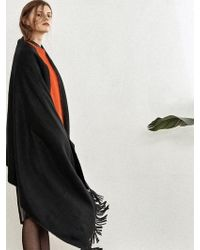W Concept - Black Cashwool Oversized Muffler Da002 - Lyst