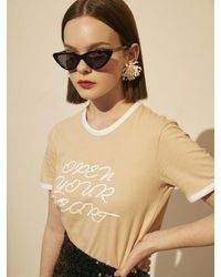 Fleamadonna [exclusive] Together Again T-shirt - Natural