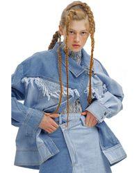 Kye Two Tone Denim Washing Jacket - Blue