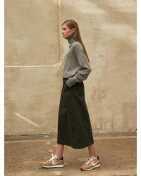 COLLABOTORY A-line Long Skirt - Gray