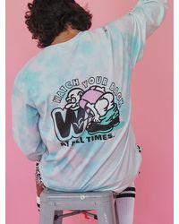 WKNDRS Tie Dye Long Sleeve Tee - Pink