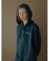 W Concept - Y Rib Hoodie_green - Lyst