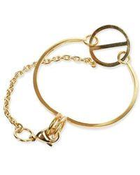 W Concept - Gold Chain Point Bracelet Dl17ssbc02gdf - Lyst