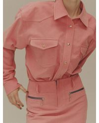 Fleamadonna Corduroy Oversize Shirt - Black