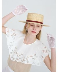 Awesome Needs - Wheat Straw Boater Hat_brick - Lyst
