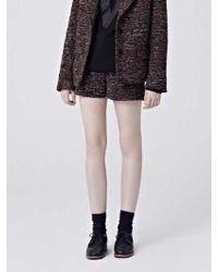 W Concept - Via Tropical Wool Tweed Short Pants - Lyst