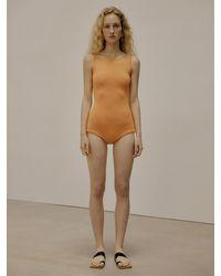 Low Classic Knit Bodysuit - Orange