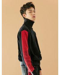 BONNIE&BLANCHE - [unisex] Warning High Neck Sweatshirt Black - Lyst