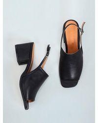 &W STUDIO Classic Mood Strap Sandal - Black
