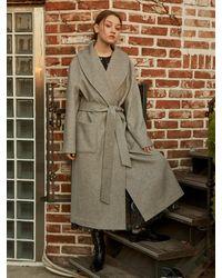 Salon de Yohn Classic Robe Long Coat - Grey