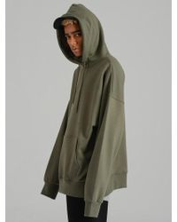 COSTUME O'CLOCK Smcocl K Oversized Hooded Sweatshirt Khaki - Green