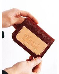 W Concept [unisex]mini Folding Wallet - Red