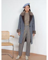 Petite Studio Elsa Wool Coat - Grey