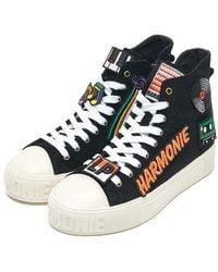 2a9e6ec67 Lyst - Ash  legend  Velcro Fastening Hi-top Sneaker Sandals in Black