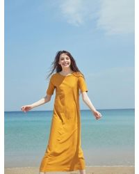 W Concept Dr72005 Cotton-silk Fitted Dr Mustard - Multicolour