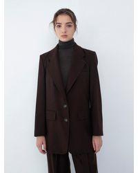 AEER Semi Slim Single Jacket - Brown
