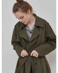 NUISSUE - Oversize Trench Coat Khaki.ver2 - Lyst
