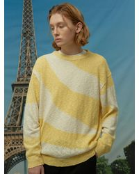 WAIKEI Wave Stripe Sweater Yellow