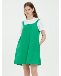 Bensimon Mini A Line Dress (green)