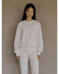 Low Classic Stitched Long Sleeve Sweatshirt (white)