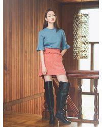 Grace Raiment - Ruffle Corduroy Skirt - Lyst