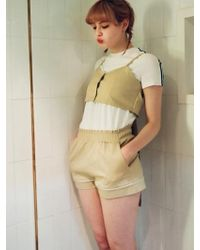 Noir Jewelry Line Shorts - Natural