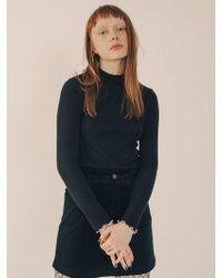 W Concept - Mock Neck Slim Fit Inner Knit - Lyst