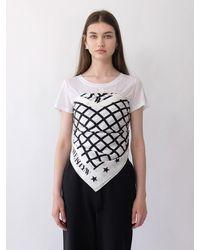 THE ASHLYNN Wavy Net Large Scarf - White