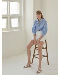 NILBY P Summer Linen Short Trousers [wh] - White