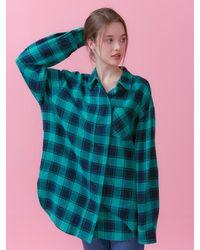 VEMVER Overfit Check Long Shirt - Green