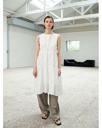 OUI MAIS NON Estella Paper Sleeveless Dress - White