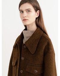 AVA MOLLI Fancy Wool Bonding Coat - Brown