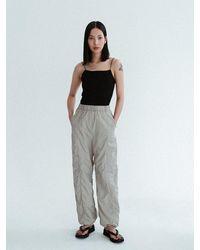 Amomento Shirred Trousers - Black