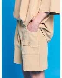 XTONZ Xtp003 Corduroy Shorts - Natural