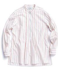 Eastlogue Stripe Tunic Shirt Red