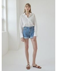 NILBY P Vintage Denim Short Pants - Blue