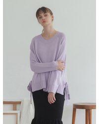 TARGETTO - Raglan Ribbon Knit Lilac - Lyst