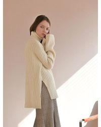 PLOT Cozy Turtleneck Natural Knit_3colors - Brown