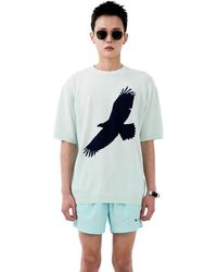 Heich Blade Fly Graphic Short Sleeve Pullover - Multicolour