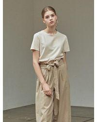 YAN13 Cotton Normal T-shirt - Natural