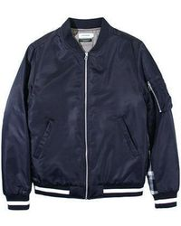 W Concept - Contrast Ma-1 Jacket Navy - Lyst