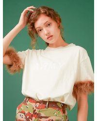 Fleamadonna Army Feather T-shirt - White