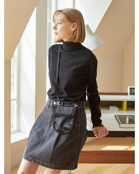 ANDSEEYOU Glossy Mini Crossbody Bag - Black