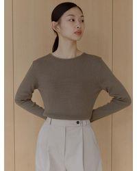 38comeoncommon Angora Slim Round Knit () - Natural