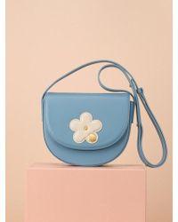 UNDER82 - Camilla Mini Flower Shoulder Bag Sky - Lyst