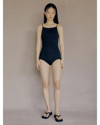 Low Classic Knit Bodysuit - Black