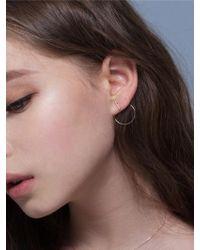G. TATIANA - 14k Holis Point Hoop Earring - Lyst