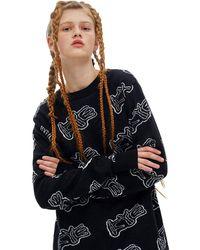 Kye Logo Paly Jacquard Sweater - Black